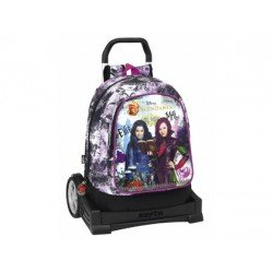 Mochila Escolar Los Descendientes Con Carro Evolution 33x17,5x46 cm
