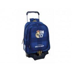 Mochila Escolar Real Madrid Con carro 905 33x15x43 cm Blue