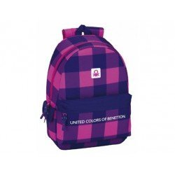Mochila Escolar Benetton Adaptable a Carro 30x14x46 cm Square