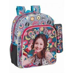 CARTERA ESCOLAR SAFTA SOY LUNA ATHLETIC MOCHILA JUNIOR ADAPTABLE A CARRO 320X380X120 MM