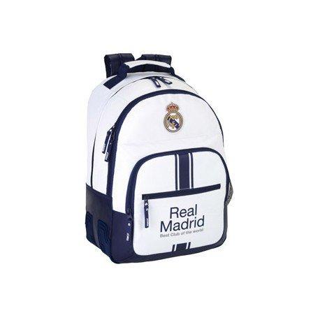Mochila Escolar Doble Real Madrid Sin Carro 32x15x42 cm 1º equipacion