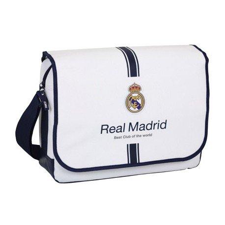 "Bandolera Escolar Real Madrid para ordenador portatil 15, 6"" 40x29x11,5 cm 1º Equipación"