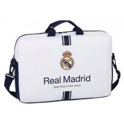 "Funda Escolar Real Madrid para ordenador portatil 15, 6"" 40x4x27 cm 1º Equipación"