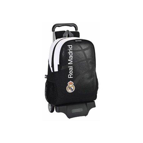 Mochila Escolar Real Madrid con ruedas y carro 905 32x16x44 cm Baloncesto
