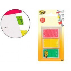 Banderitas Post-it ® Separadoras Index Flechas Medianas Colores Naranja, Rosa, Verde