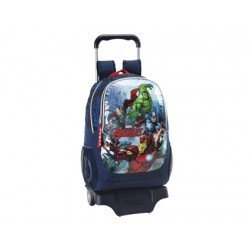 Mochila Escolar Avengers Assemble Con Carro 905 33x15x43 cm