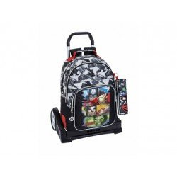 CARTERA ESCOLAR SAFTA CON CARRO AVENGERS ASSEMBLE 330X150X430 MM