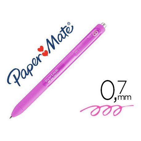 Boligrafo Paper Mate Inkjoy Retractil Gel 0,7 mm Color Rosa