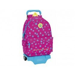 CARTERA ESCOLAR CON CARRO SAFTA BENETTON DOTS 330X420X150 MM