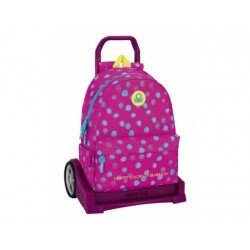 CARTERA ESCOLAR SAFTA CON CARRO BENETTON DOTS 330X150X430 MM