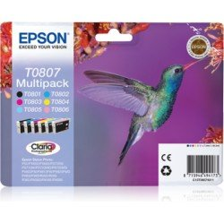 Cartucho Epson T0807 Stylus Photo R265/ 285 Multipack de 6 colores C13T08074011