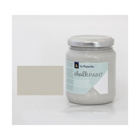 Pintura Acrilica La Pajarita Efecto Tiza Color London Grey 175 ml Chalk Paint