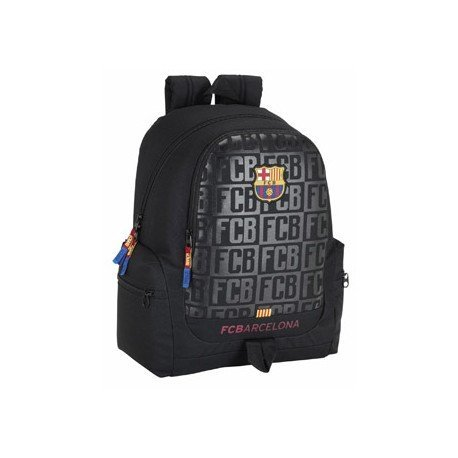 CARTERA ESCOLAR SAFTA F.C. BARCELONA BLACK MOCHILA ADAPTABLE A CARRO 320X430X170 MM