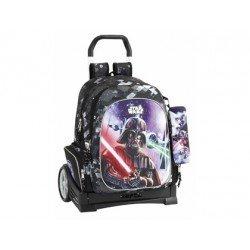 Mochila Escolar Star Wars Con Carro Evolution 32x18x41 cm Saga