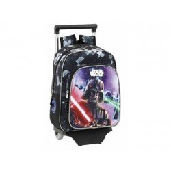 CARTERA ESCOLAR SAFTA CON CARRO STAR WARS SAGA 270X340X100 MM