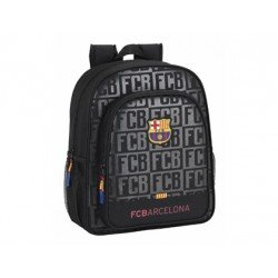 CARTERA ESCOLAR SAFTA F.C. BARCELONA BLACK MOCHILA JUNIOR ADAPTABLE A CARRO 320X380X120 MM
