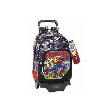Mochila Escolar Doble Spiderman Con Carro 905 32x15x42 cm Ultimate
