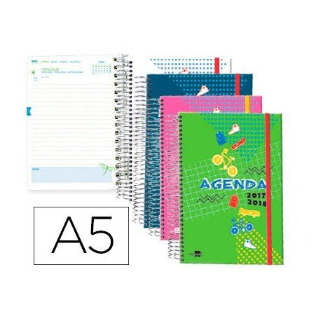 Agenda Escolar 17-18 Dia por pagina DIN A5 Bilingüe Liderpapel Classic No se puede elegir color