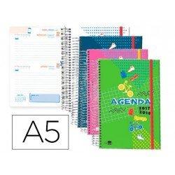 Agenda Escolar 17-18 Dos Dia por pagina DIN A5 Bilingüe Liderpapel Classic No se puede elegir color