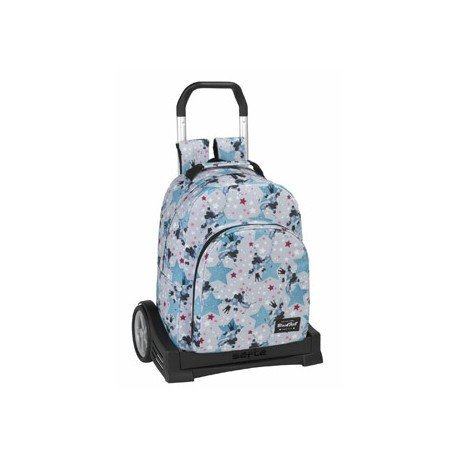 CARTERA ESCOLAR SAFTA CON CARRO BLACKFIT8 STARS 330X150X430 MM
