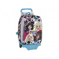 CARTERA ESCOLAR CON CARRO SAFTA BARBIE YOU CAN BE 330X420X150 MM