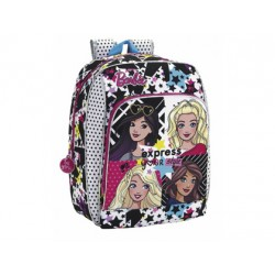 CARTERA ESCOLAR SAFTA BARBIE YOU CAN BE MOCHILA ADAPTABLE A CARRO 310X410X140 MM