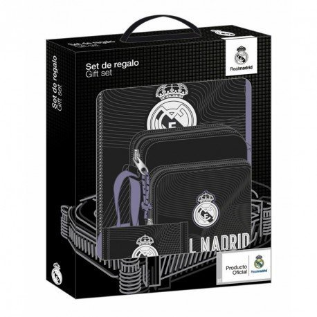 SET REGALO PEQUEÑO REAL MADRID BLACK 280X350X60 MM