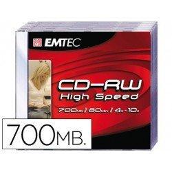 CR-R Emtec Recargable 700mb 80min velocidad maxima 4-10X Caja 1 unidad