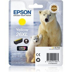 Cartucho Epson 26XL color Amarillo C13T26344012