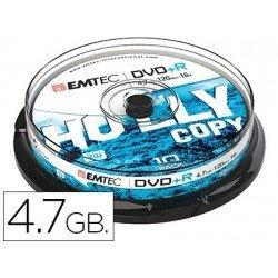 DVD-R Emtec 4,7GB 120min velocidad maxima 16X Tarrina 10 unidades