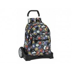 CARTERA ESCOLAR SAFTA CON CARRO BLACKFIT8 MONSTERS 330X150X430 MM