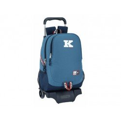 CARTERA ESCOLAR SAFTA CON CARRO KELME 1977 330X430X150 MM