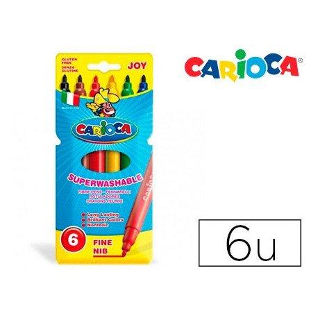 Rotulador Carioca Joy finos lavables caja 6 rotuladores