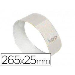 Pulsera identificativa Avery Polietileno 265x25 mm blanco. Pack 48 unidades de identificadores