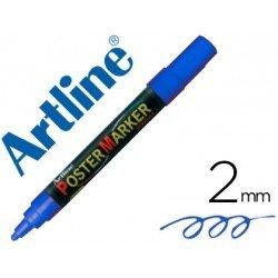 Rotulador Artline Poster Marker EPP-4 Punta Redonda Trazo 2mm Color Azul