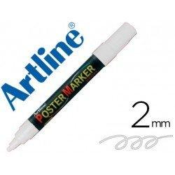 Rotulador Artline Poster Marker EPP-4 Punta Redonda Trazo 2mm Color Blanco