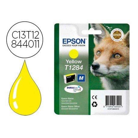 INK-JET EPSON T1284 STYLUS S22 / SX125 AMARILLO -170 PAG-