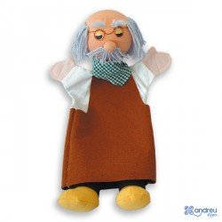 Marioneta de mano Abuelo a partir de 3 años Andreutoys