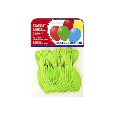 Globos Pastel Verde Pistacho Bolsa de 20 unidades