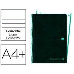 Cuaderno Oxford Ebook 4 DIN A4+ Negro y Menta Hielo Tapa Plastico Rayado Horizontal