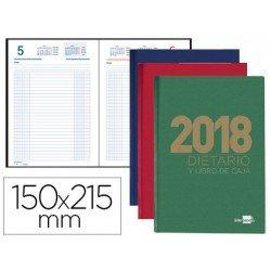 Libro de caja Liderpapel 15X21,5cm 2018 Cuarto Dietario en Colores Surtidos