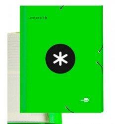 Carpeta Liderpapel Antartik Clasificadora Folio 12 departamentos Cartón forrado color Verde