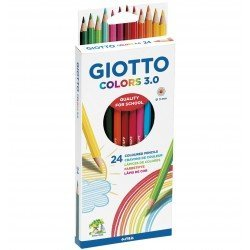 LAPICES DE COLORES GIOTTO COLORS 3.0 CAJA CARTON DE 24 LAPICES COLORES SURTIDOS