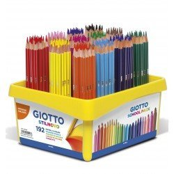 Lapices de colores marca Giotto colors 3.0 Schoolpack de 192 lapices, 12 colores x 16 unidades