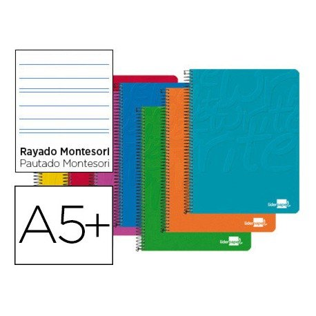 Bloc Liderpapel serie Write Cuarto rayado montessori 3,5 mm