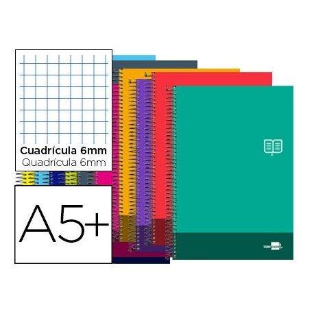Bloc Cuarto Liderpapel serie Discover cuadricula de 6 mm
