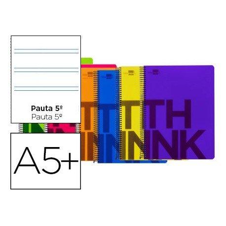 Bloc Cuarto marca Liderpapel serie Think pauta 2,5 mm surtido
