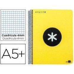 Bloc marca Liderpapel Cuarto Antartik Cuadricula 4 mm amarillo