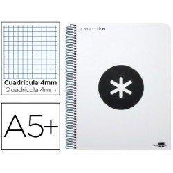 Bloc Antartik A5+ Cuadrícula tapa Dura 100g/m2 Blanco con margen