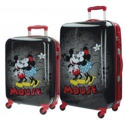 Juego de maletas Cabina/mediana Rígidas Mickey y Minnie Retro Black